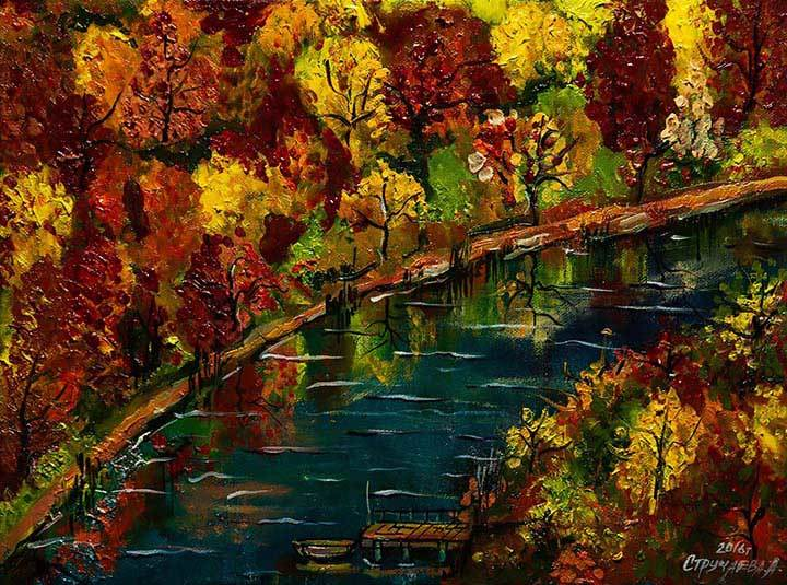 Artwork 'Autumn leaf fall'