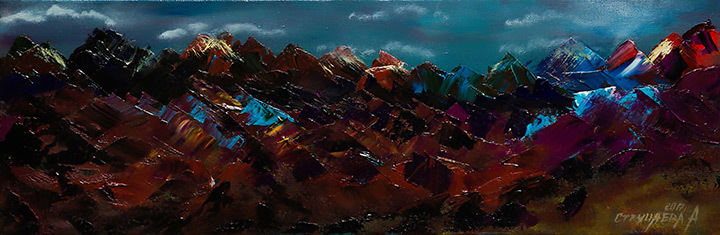 Artwork 'Night in the mountains'