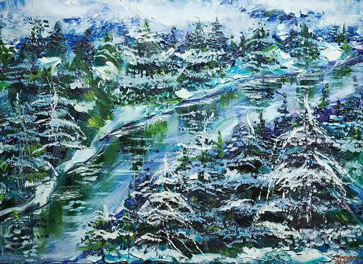 Artwork 'Winter forest'