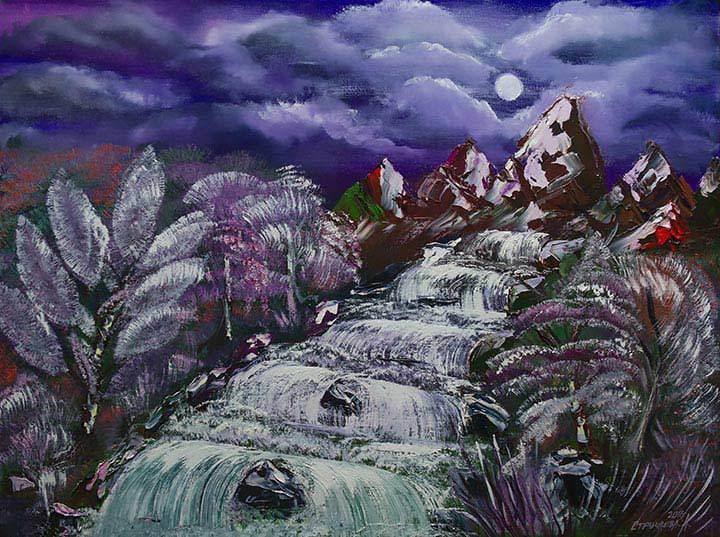Artwork 'Winter waterfall'